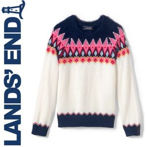 NWOT Lands' End Girl's Fair Isle Sweater